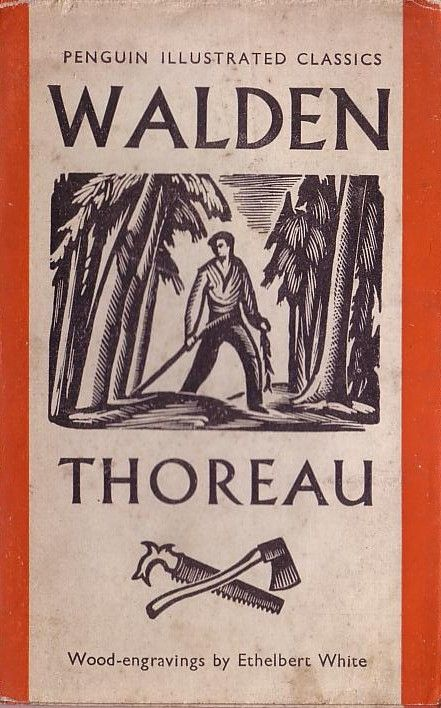 Walden by Henry David Thoreau, book cover.