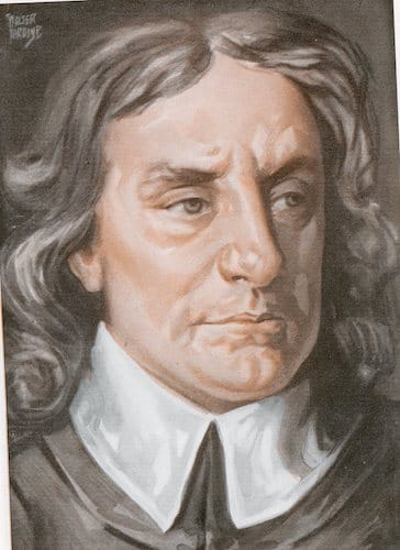 Oliver cromwell illustration.