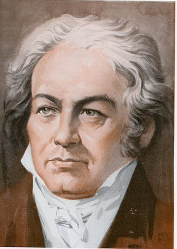 Ludwig van beethoven illustration.