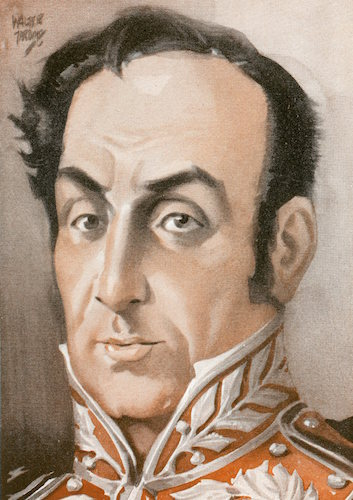Simon bolivar illustration.