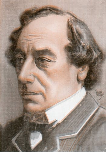 Benjamin disraeli illustration.