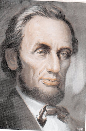 Abraham lincoln illustration.