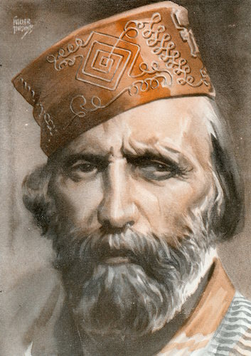 Giuseppe garibaldi illustration.