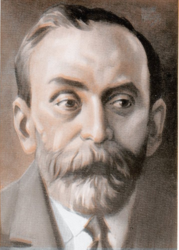 Alfred nobel illustration.
