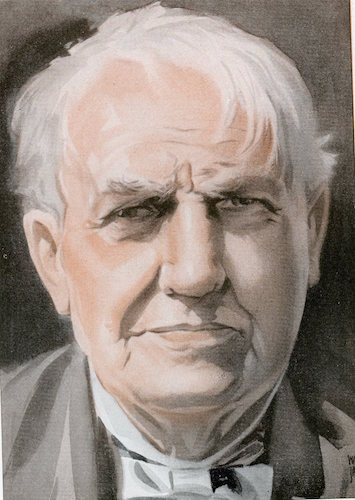 Thomas alva edison illustration.