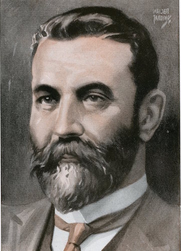 Alfred deakin illustration.