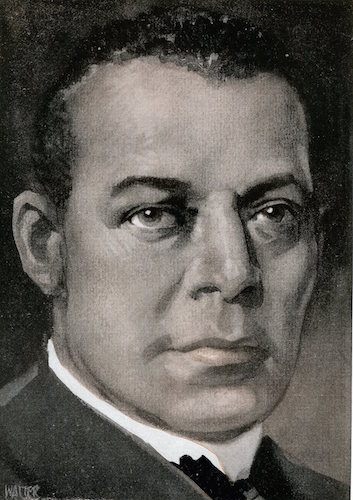 Booker t washington illustration.