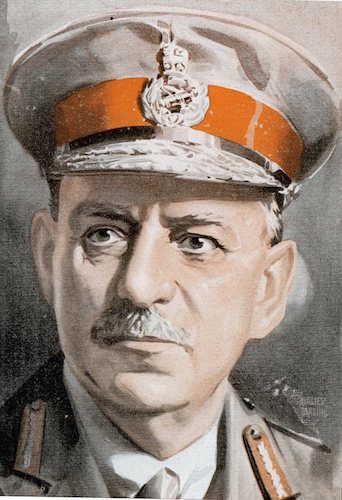 Sir john monash illustration.