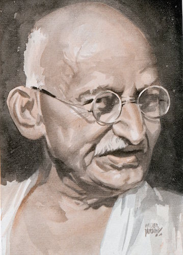 Mahatma gandhi illustration.