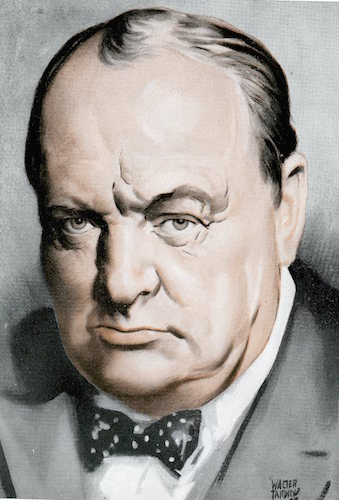 Winston churchill illustration.