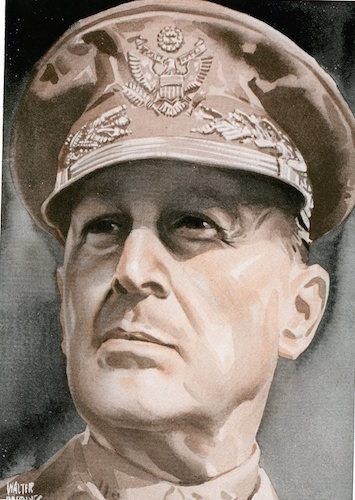 Douglas macarthur illustration.