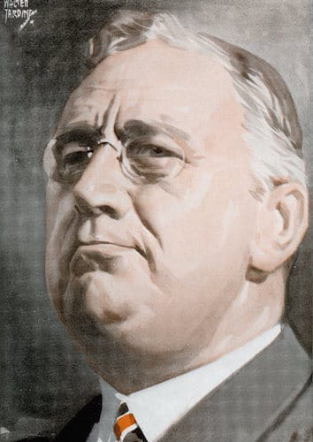 Franklin delano roosevelt illustration.