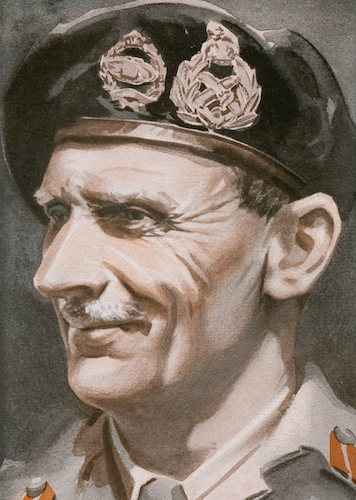 Bernard law montgomery illustration.