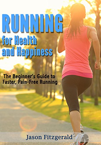 Book cover, running for health and happiness by Jason Fitzgerald.