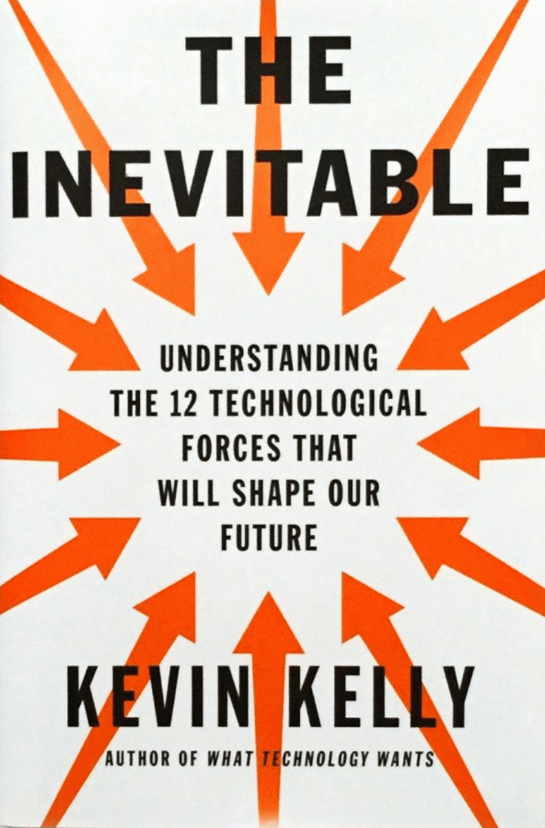 Book cover, the inevitable by Kevin kelly.