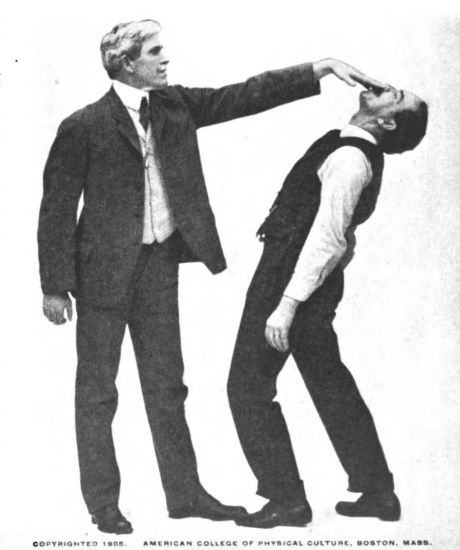 Holding your opponent nose illustration.