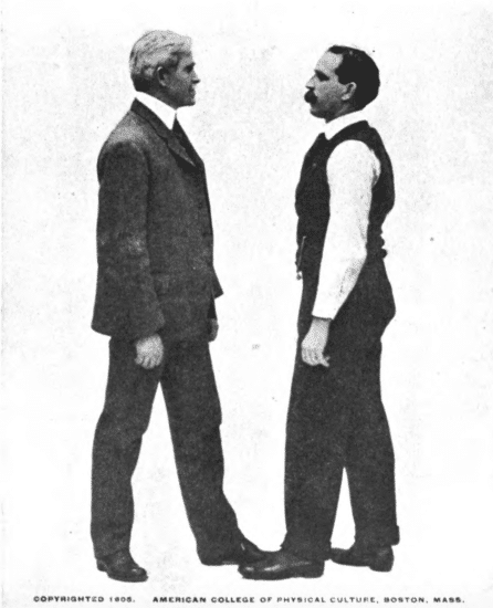 Two Men getting into an argument.