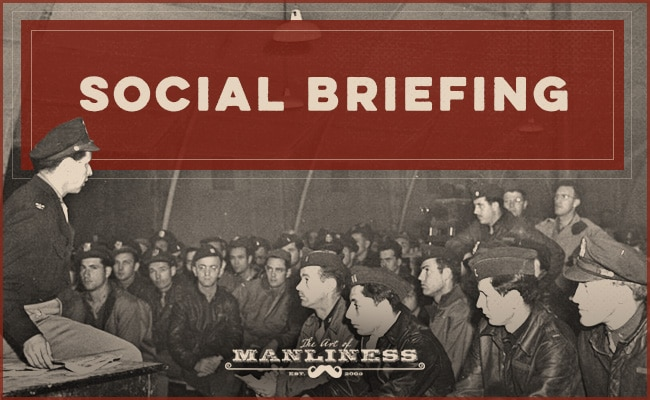 social briefing military men being briefing in hangar