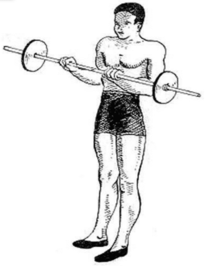 How to circling a barbell.