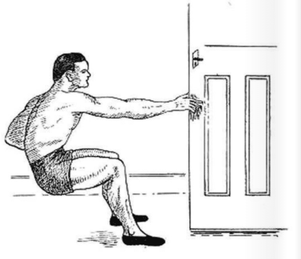 How to gripping an open door.