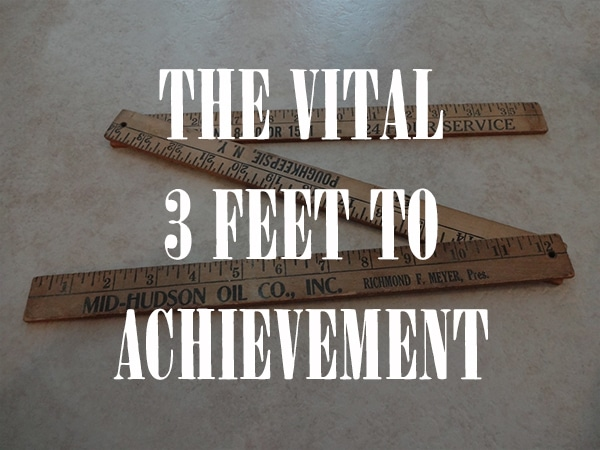 vital 3 feet to achievement folding meter stick