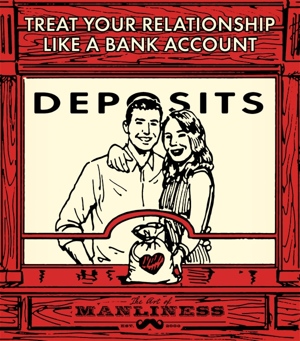 treat relationship like a bank account illustration