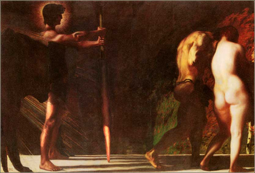 painting adam and eve being expelled from eden