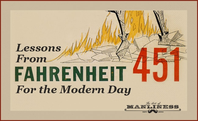 Fahrenheit 451 lessons illustration.