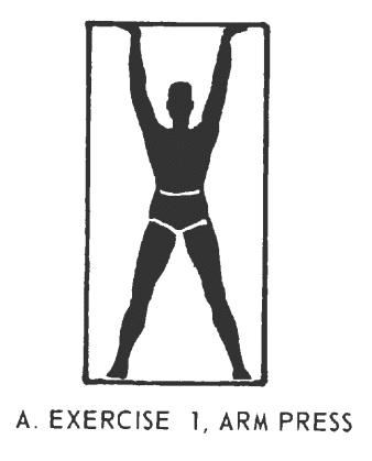 Office fitness doorframe stretch isometrics Exercise# 1: Arm Press.