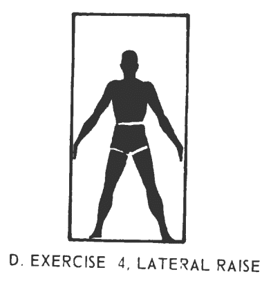 Office fitness doorframe stretch isometrics. Exercise# 4: lateral raise.