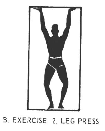 Office fitness doorframe stretch isometrics. Exercise# 2: leg press.