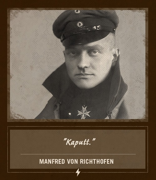 manfred von richthofen red baron last words kaputt