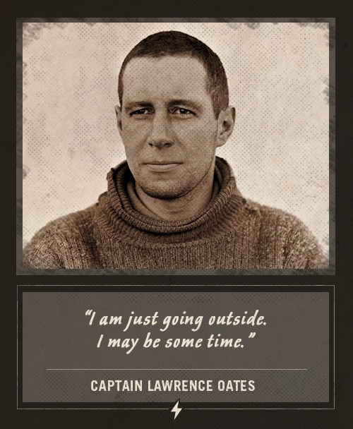 captain lawrence oates explorer last words i am just going outside
