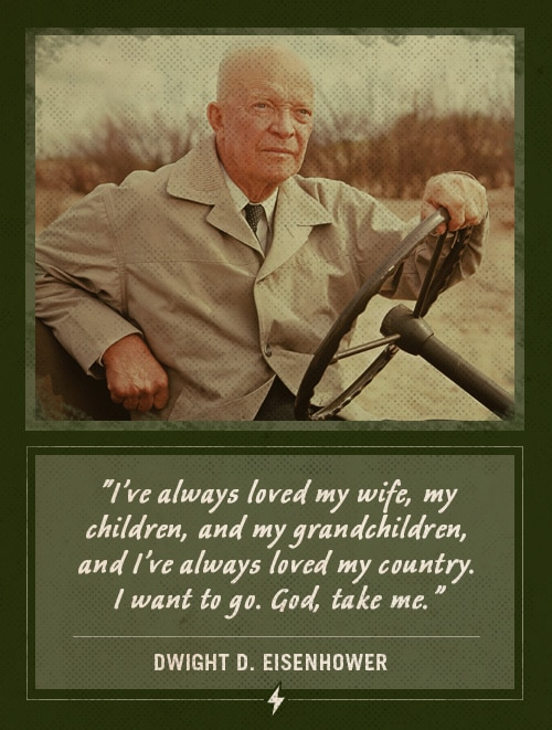 dwight ike eisenhower last words i've always loved my wife