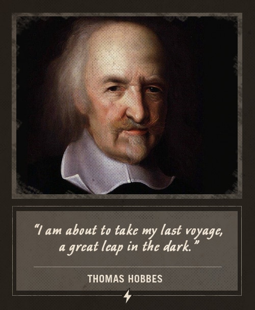 thomas hobbes last words last voyage great leap in the dark