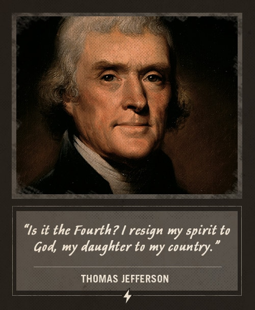 thomas jefferson last words I resign my spirit
