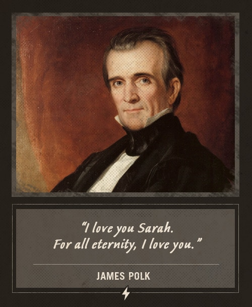 james polk last words for all eternity i love you