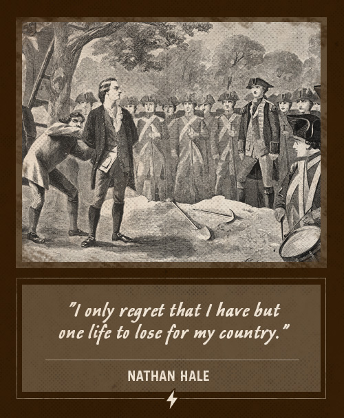 nathan hale last words one life to lose for my country