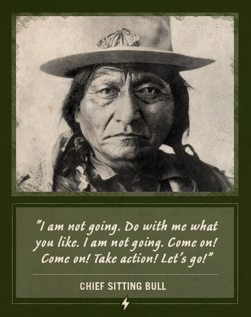 chief sitting bull last words come on take action