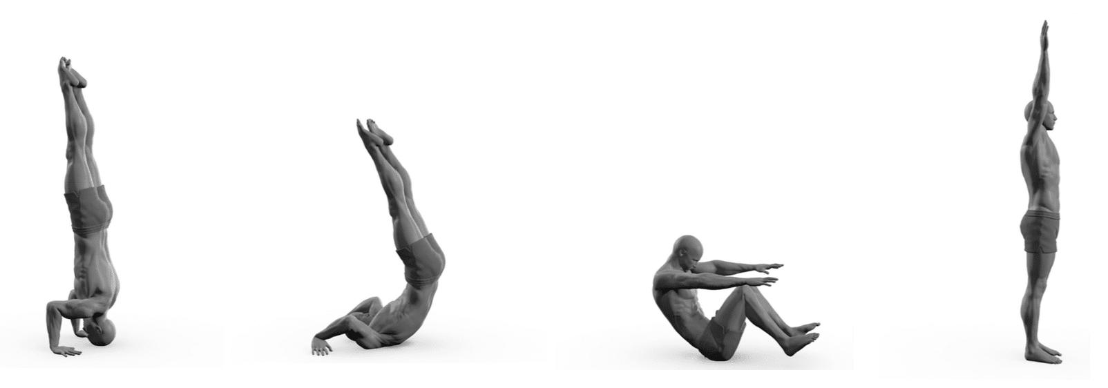 Man doing exercise on ground illustration.