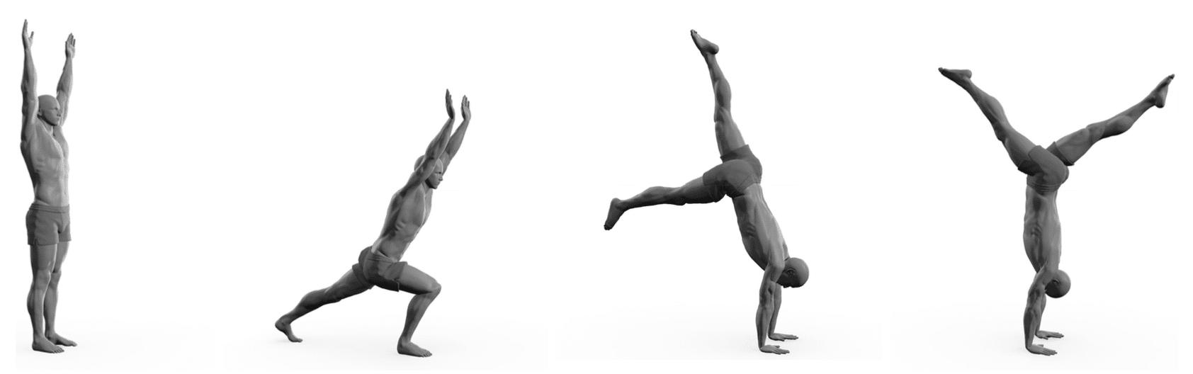 Man doing kicking up exercise on gound illustration.
