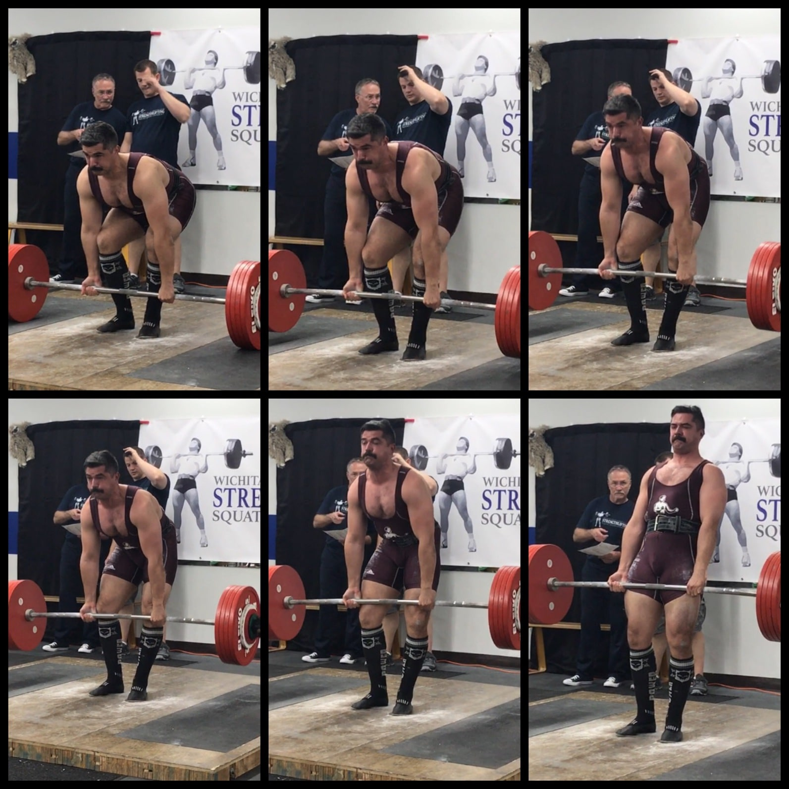 A man lifting heavy weight.