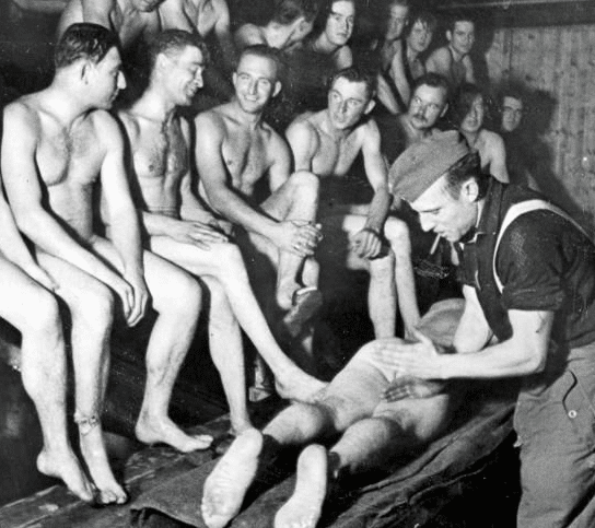 finnish soldiers in sauna wwii
