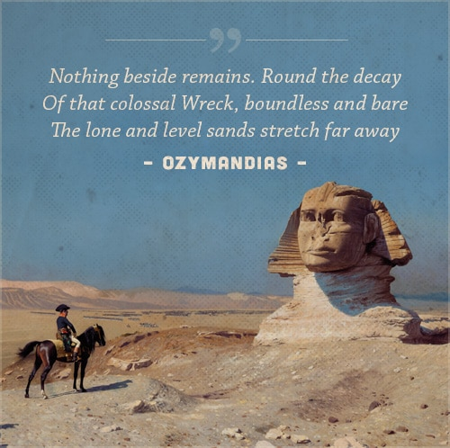 ozymandias poem by Percy Bysshe Shelley