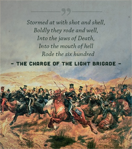 charge of the light brigade poem alfred lord tennyson