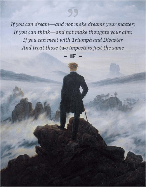If poem, by Rudyard Kipling, quotation on a cover page.