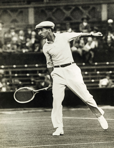 vintage rene lacoste playing tennis
