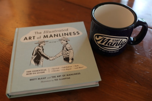 stay manly mug illustrated art of manliness