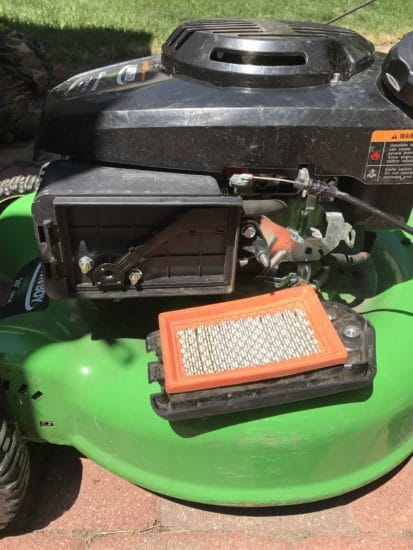 Lawn mower air filter.