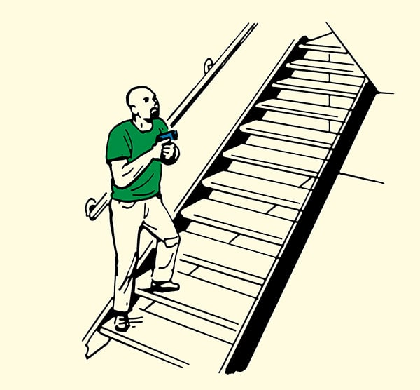 How to clear a home stairways illustration.